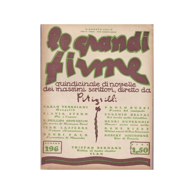 Le Grandi Firme. N. 196. 15 agosto 1932.